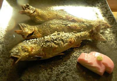 鮎の塩焼き完成