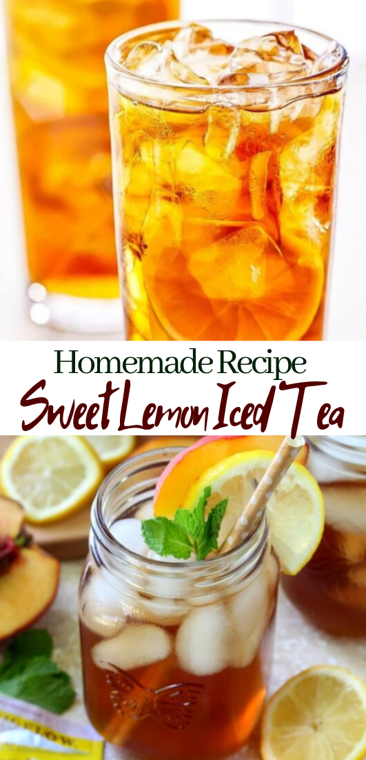Sweet Lemon Iced Tea  #healthydrink #easyrecipe #cocktail #smoothie