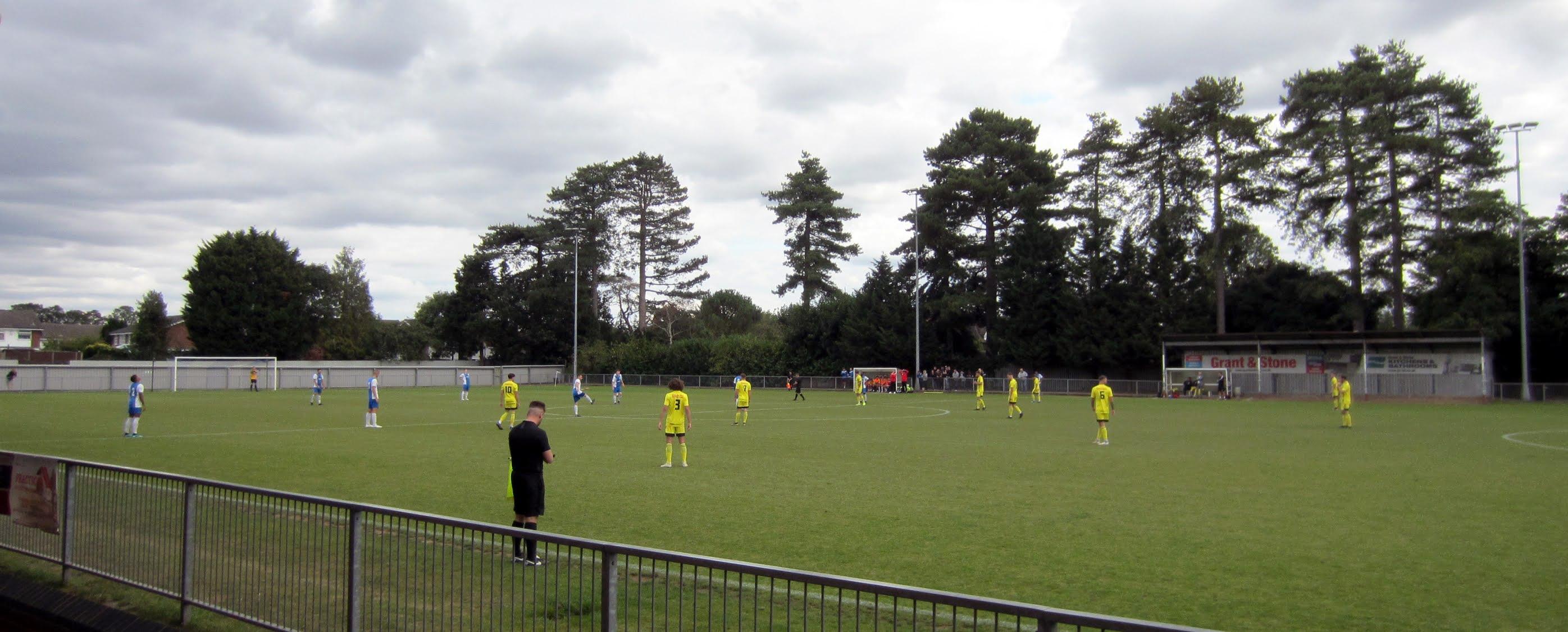 Kick-off before Burnham vs. Tiverton Town