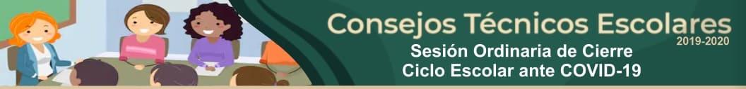 Consejo Técnico Escolar Sesión Ordinaria de Cierre de Ciclo escolar 2019-2020