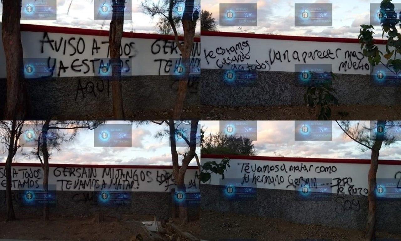 """""""Te estamos casando y van a aparecer más muertos"""", CJNG deja narcopintan en campo de beisbol amenazando y anunciando su llegada a Oaxaca"""