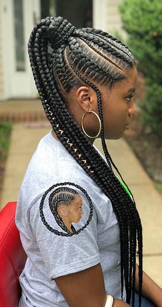 25+ elegant Lemonade braided ponytail hairstyles 2019 for ...