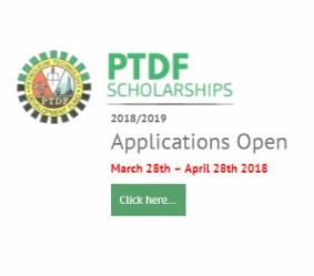 PTDF Phd Scholarships 2018