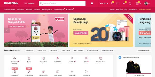Cara Belanja Online di Situs Bukalapak, Shopee, Lazada dan Tokopedia
