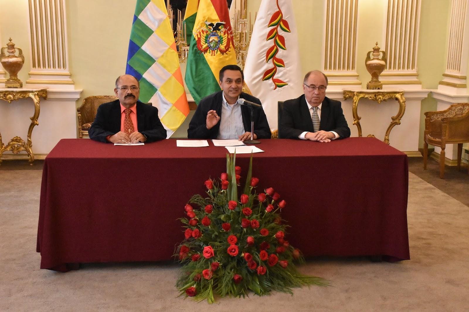 El anuncio de la ruptura diplomática con Cuba lo dio el canciller interino Yerko Nuñez / ABI
