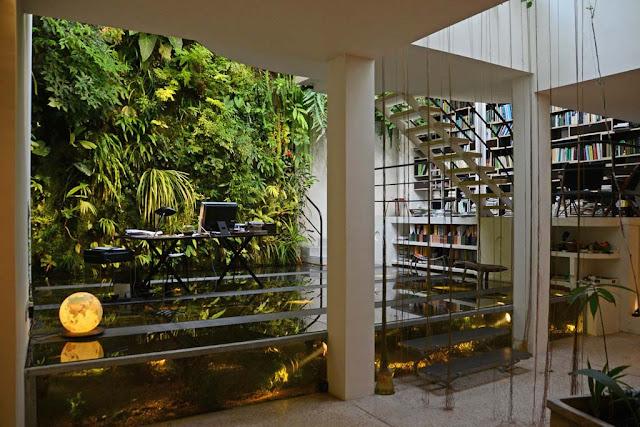 gambar desain taman vertikal minimalis dalam rumah