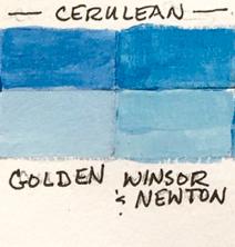 Cerulean color comparison