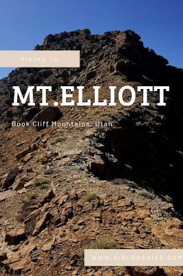 Hiking to Mt.Elliott, Book Cliff Mountains