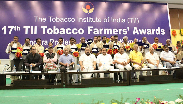 Tobacco Farmers felicitated for adopting modern and scientific farming practices