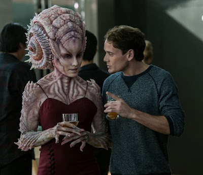 Pavel Chekov with female Alien