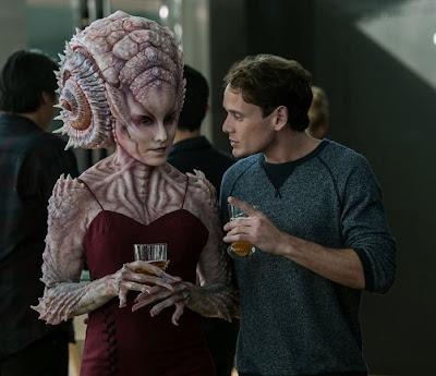 Pavel Chekov with female Alien