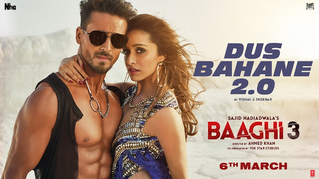 DUS BAHANE 2.0 LYRICS SONG - BHAAGI 3 - VISHAL AND SHEKHAR ft. KK - SHAAN and TULSI- LYRICSFACRE.COM