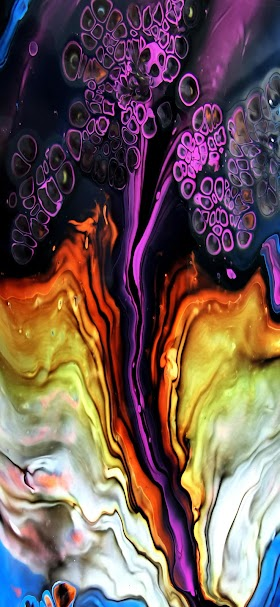 Purple and brown abstract painting wallpaper