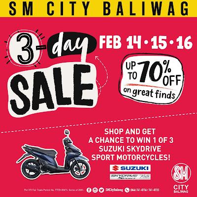 NEW YEAR, BIG SAVINGS AT SM CITY BALIWAG'S 3-DAY SALE