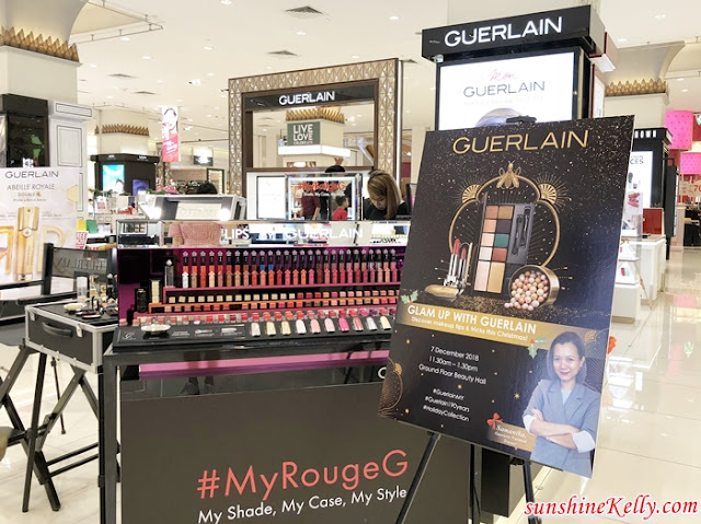 SOGO, Let's Kiss and Makeup, Glam Up With GUERLAIN Workshop, Guerlain, Holiday Makeup Collection, 190 Years Special Limited Edition, Rouge G de Guerlain, Guerlain Météorites Electric Pearl, Guerlain Limited Edition Electric Look, Makeup, Beauty