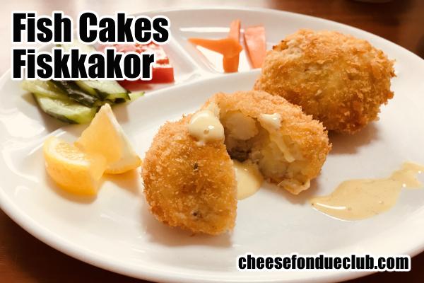 北欧風フィッシュケーキのレシピ Fish cake, フィスクカーコル Fiskkakor