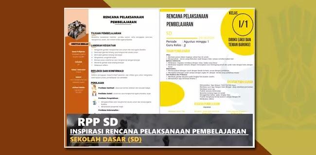 Model RPP SD Format 1 Halaman Resmi dari Pusat Kurikulum KEMENDIKBUD