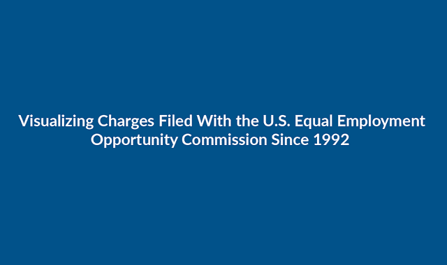 Visualizing Charges Filed With the U.s. Equal Employment Opportunity Commission Since 1992 #infographic