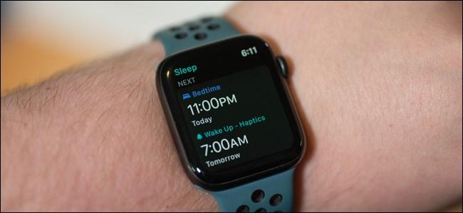 تتبع النوم على Apple Watch