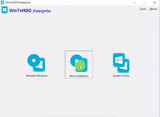 install windows 10 without usb or dvd With WinToHDD