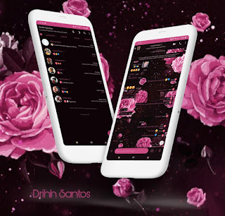Flowers Dark Theme For YOWhatsApp & Fouad WhatsApp By Driih Santos