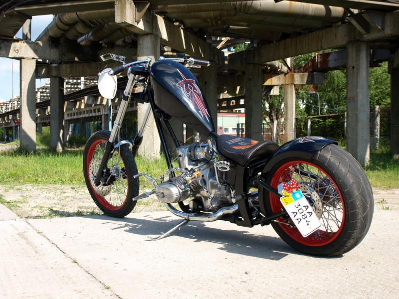 the rear part of the CoolDrug custom Ural chopper