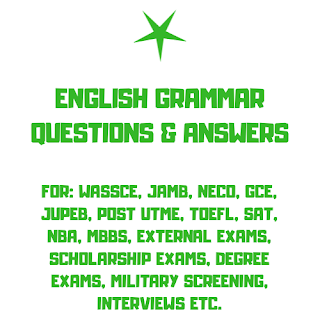 English Grammar Questions and Answers for all Examinations - Test 9 Type 1