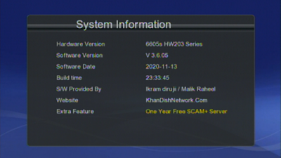 GX6605s New Software With 1 Year Server