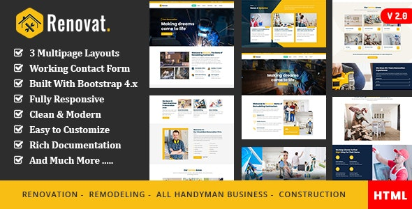Renovat Construction and Building Responsive Template