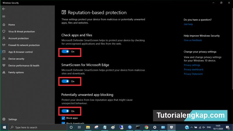 [Update] tutorialengkap 5 Cara Menonaktifkan Microsoft Defender SmartScreen Windows 10 2021