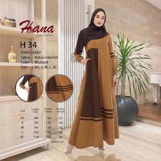 Koleksi terbaru Gamis Muslimah Hana H 34