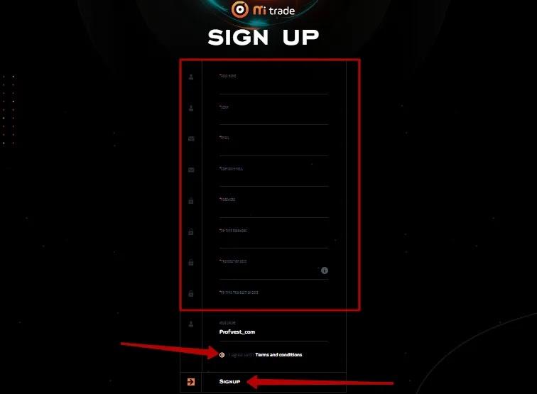 Регистрация в Mi-Trade 2