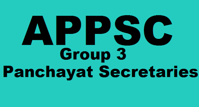 APPSC Key, Panchayat Secretaries Screening Test Answer Key, APPSC