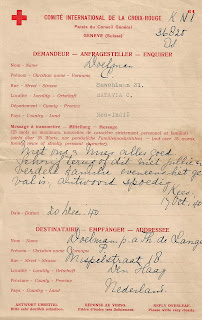 Red Cross message form 1940