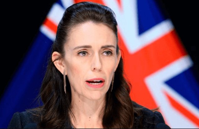New Zealand Prime Minister Jacinda Ardern at a press conference on April 09, 2020 in Wellington