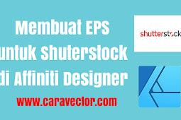 Cara buat eps untuk diupload ke Shutterstock pada aplikasi Affinity Designer