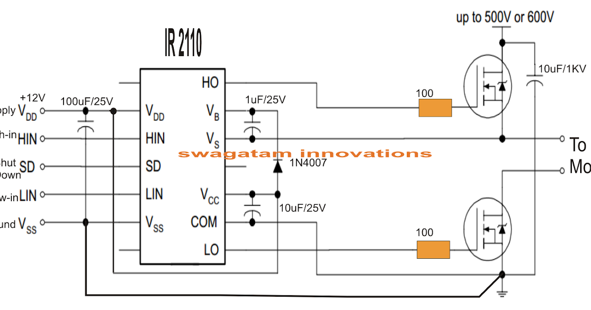 Single Phase Variable Frequency Drive VFD Circuit