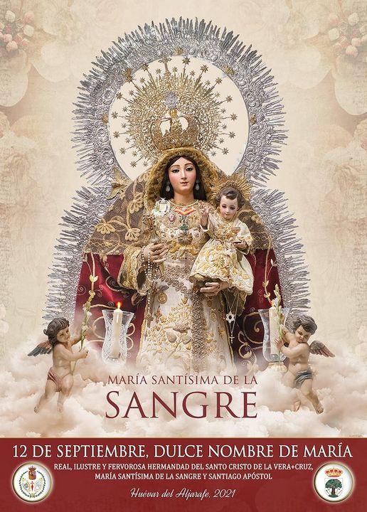 Cartel de María Santísima de la Sangre de Huévar del Aljarafe 2021