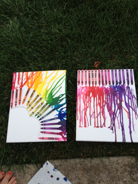 Back To School DIY: Crayon Art!