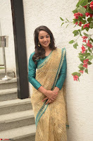 Tejaswi Madivada looks super cute in Saree at V care fund raising event COLORS ~  Exclusive 056.JPG
