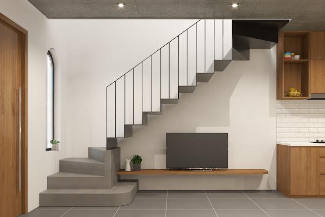 Mẫu cầu thang tối giản đầy phong cách