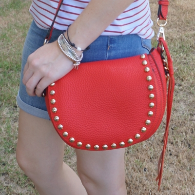 Rebecca Minkoff unlined saddle bag in cherry red   awayfromtheblue