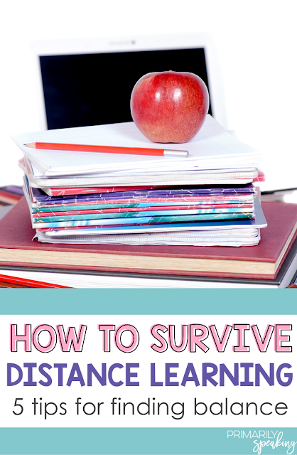 distance learning and tips for finding balance