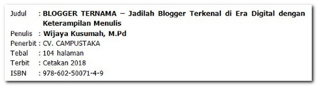 Resensi Buku Non Fiksi – Buku Panduan Untuk Para Blogger