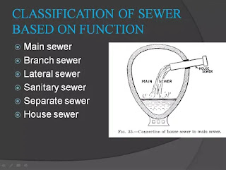 classification of sewer based on function