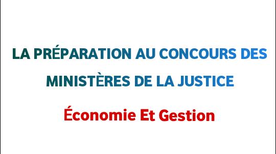 La préparation aux concours des ministères de la justice 2020