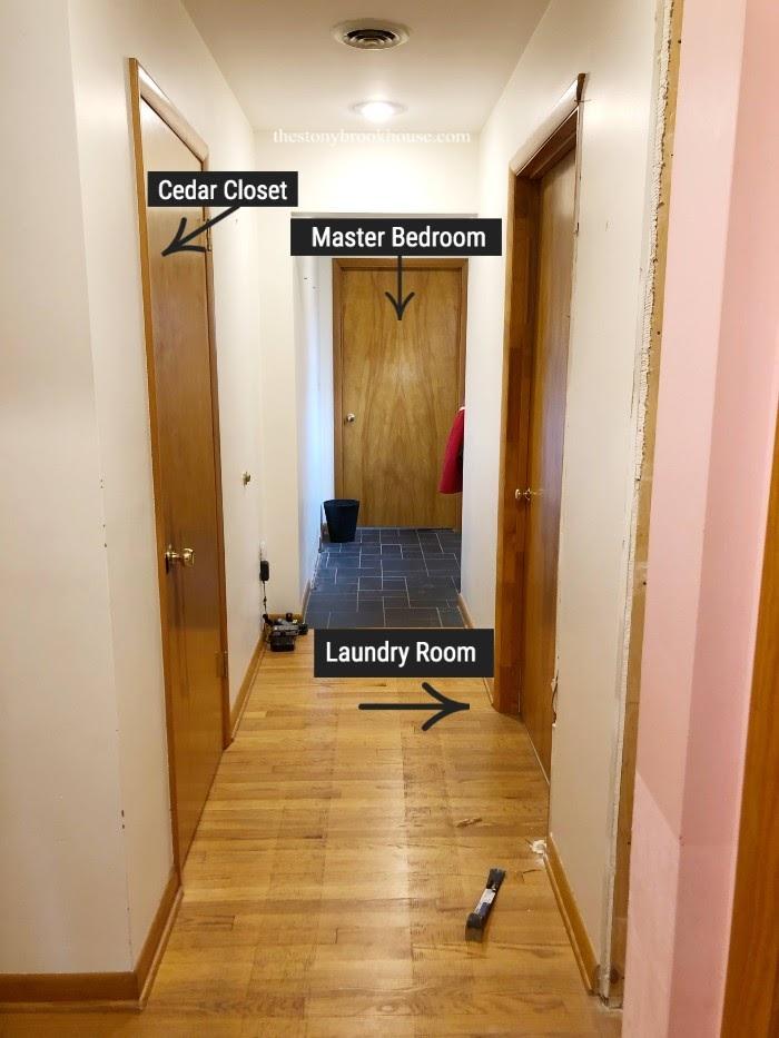 Hallway To Master Bathroom - Before