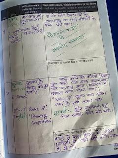 Teacher Diary for Primary ka master | शिक्षक डायरी प्राथमिक स्तर 01 जुलाई से 31 जुलाई 2021