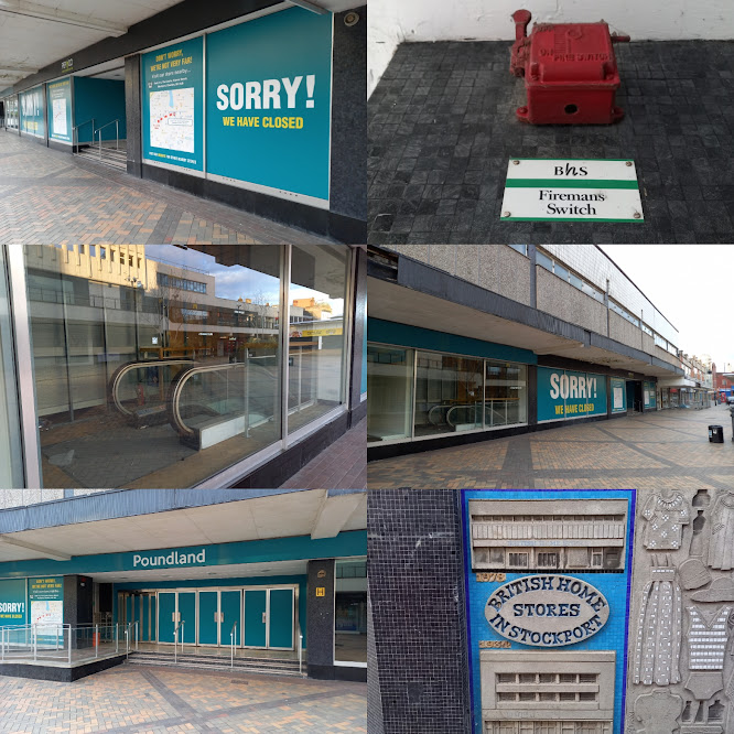 The former BHS / Poundland in Stockport's Merseyway shopping centre