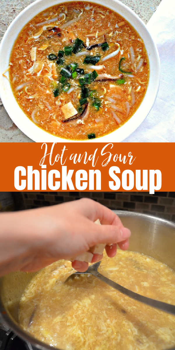 Easy Hot and Sour Chicken Soup is absolutely delicious and a meal in it's own! Faster than takeout from Serena Bakes Simply From Scratch.